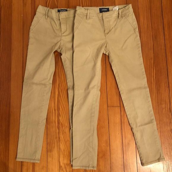 54eb746f9 Old Navy Bottoms | 2 Pairs Girls Skinny Khaki Uniform S10 | Poshmark